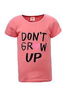 Детская летняя футболка для девочки на 3 , 4 , 5 , 6 , 7 , 8 лет