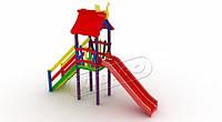 Детский комплекс Мини с пластиковой горкой DK02212PP