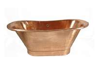 Классическая ванна  из меди на пьедестале в стиле ретро LYON