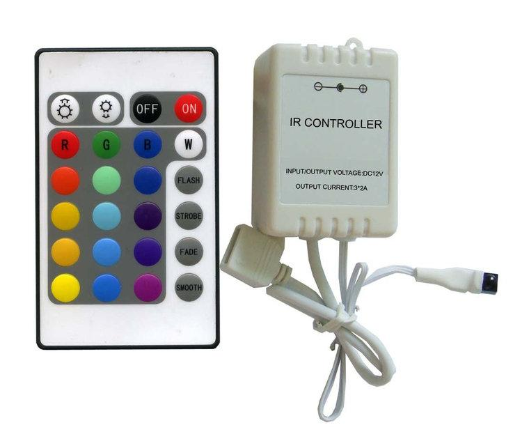 Контроллер для светодиодной ленты с пультом Biom 6A-IR-24