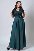 Платье мод №517-5, размер 56, темно-зеленое (А.Н.Г)