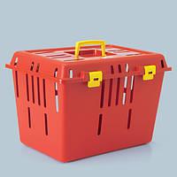 Savic ПЭТ КЭДДИ1 (Pet Caddy1) переноска для собак и котов, пластик