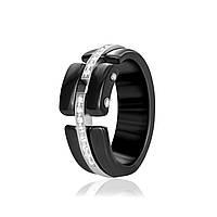 Серебряное кольцо керамическое К2ФК/1017 - 18,7