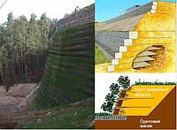 Подпорная стена из сетки с последующим озеленением