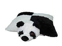 Подушка игрушка Алина панда 45 см шахматкой
