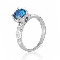 Серебряное кольцо с фианитом К2ФЛТ/432 - 17,4