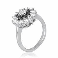 Серебряное кольцо с фианитом К2ФО/344 - 19