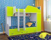 """Двухъярусная кровать""""Бриз"""" лайм+белый, фото 1"""
