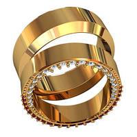 Обручальные кольца из золота (пара) арт. 801000