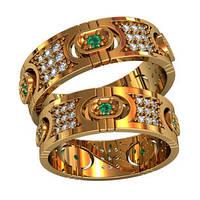 Обручальные кольца из золота (пара) арт. 801110