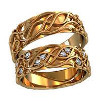 Обручальные кольца из золота (пара) арт. 800740