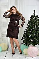 Коричневое платье 0385-1