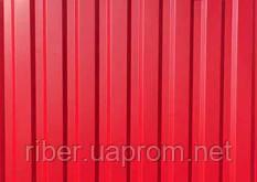 Профнастил ПС 10 мм красный