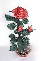 Цветок из бисера -роза, фото 1