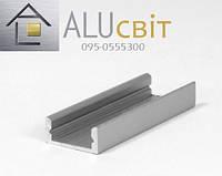 Светодиодный алюминиевый LED профиль ЛП 7  анодированный серебро