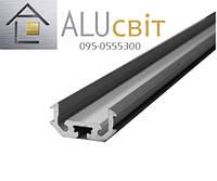 Светодиодный алюминиевый LED профиль Z200 анодированный серебро
