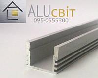 Светодиодный алюминиевый LED профиль ЛП 12 анодированный серебро