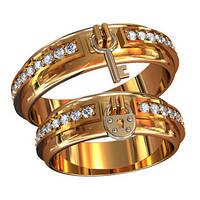 Обручальные кольца из золота (пара) арт. 800180