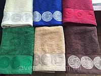 """Махровое полотенце ванильное 70Х140 """"Восточные узоры"""" 530"""