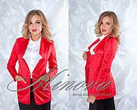 Пиджак №1012-красный