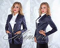 Пиджак №1012-тем.синий