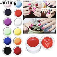 Набор цветных гелей JinTing, 5ml, 12 штук