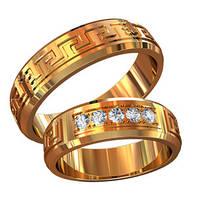 Обручальные кольца из золота (пара) арт. 800010