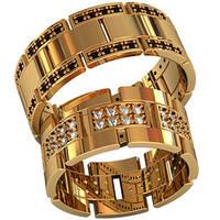 Обручальные кольца из золота (пара) арт. 800060