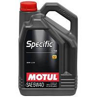 Motul SPECIFIC LL-04 5W-40 - синтетическое моторное масло - 5 л.