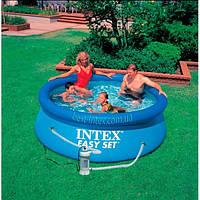 Intex 28112 (244х76 см.) + насос. Надувные бассейны серии Easy Set Pool