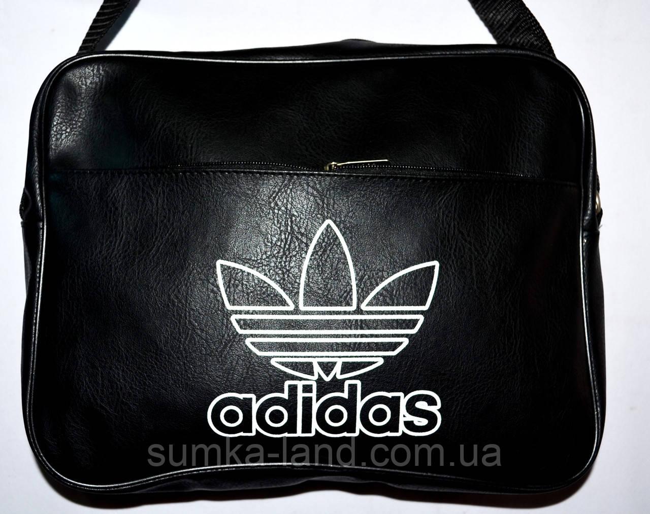 e76b2af147fc Планшет Adidas из искусственной кожи черный: продажа, цена в ...