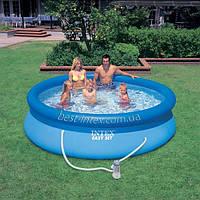 Intex 28122 (305х76 см.) + насос. Надувные бассейны Easy Set Pool