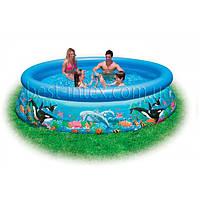 Intex 28124 (305х76 см.) Надувной бассейн Intex Ocean Easy Set Pool