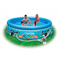 Intex 28126 (305х76 см.) + насос. Надувной бассейн Intex Ocean Easy Set Pool