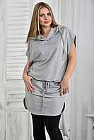 Серая блузка 0413-1