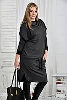 Темно-серая блузка 0413-2