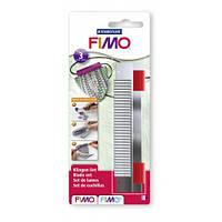 Набор ножей FIMO - комплект из 3-х лезвий с ручкой  для работы с  полимерной глиной