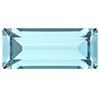 Прямоугольники Preciosa (Чехия) 10х5 мм Aquamarine