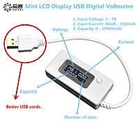 USB тестер для измерения емкости батарей,напряжения, силы тока ВОЛЬТМЕТР, фото 1