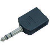 Перехідник Шт.6,3ст.- 2Гн.6,3ст пластм (VK 10377B)