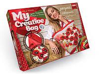"""Набор для творчества """"My Creative Bag"""", сумка женская вышитая лентами и бисером в кор. 39*29*5 см"""