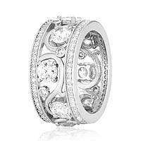 Серебряное кольцо с фианитом КК2Ф/193 - 18,4
