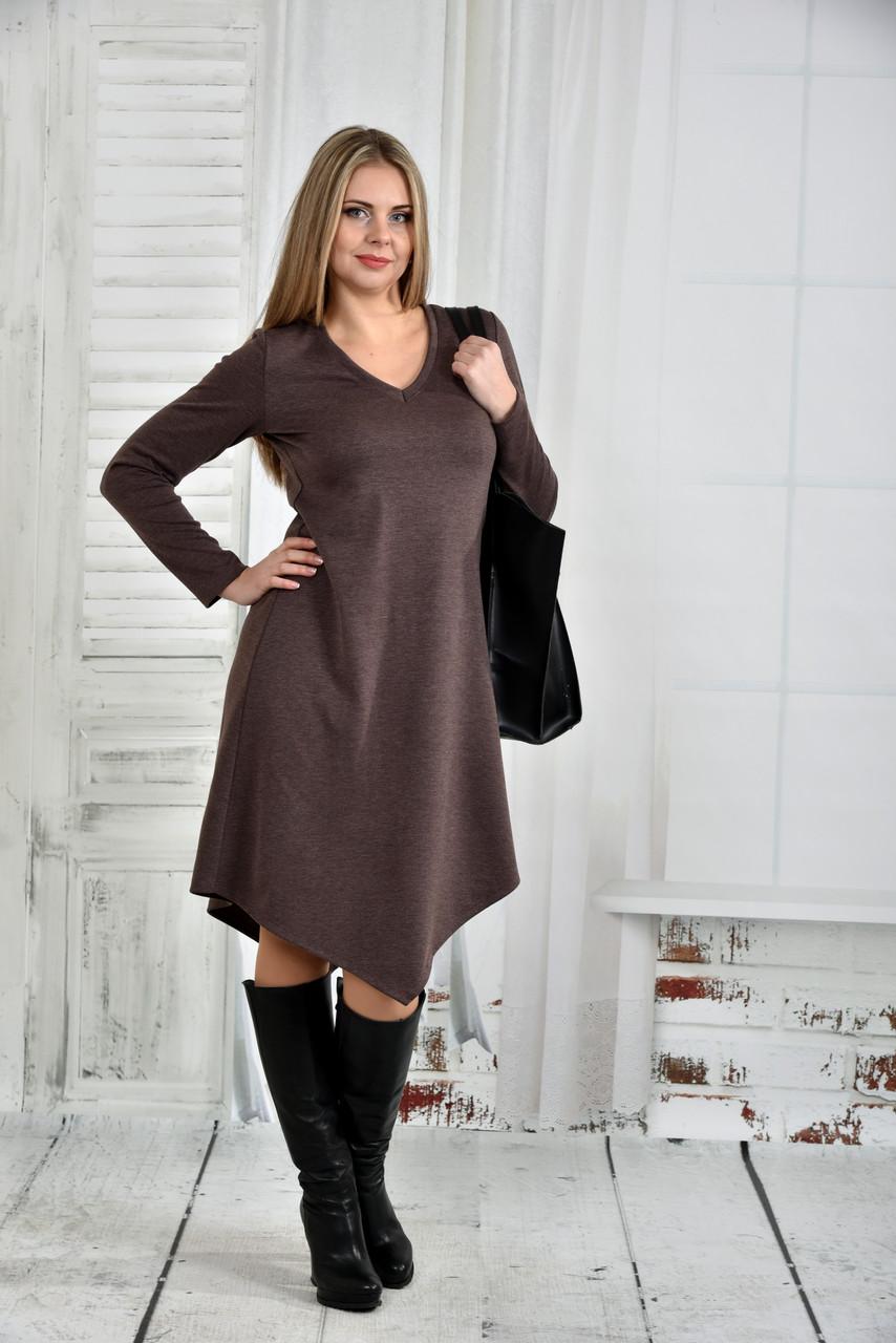 Коричневое платье 0437-2 - iPlatye в Одессе