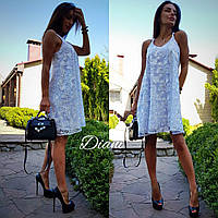 Платье ткань дорогое кружево  очень красивое на подкладке.  Размер 42-46. (21201)