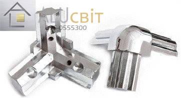 Стык тройной гальваника хром для торгового алюминиевого профиля, фото 2