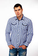 Мужская рубашка с длинным рукавом