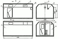 Аренда бытовки - кунг 4,5х2,4м