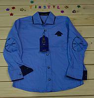 Стильная рубашка  для мальчика   (рост 116-122см)