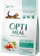 OptiMeal Kittens для котят с курицей 4 кг