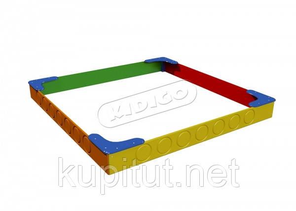 Песочница Радуга 2,3 х2,3 м     PIS01125